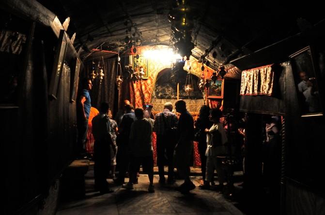 La Basílica de la Natividad de Belén, lugar del supuesto nacimiento de Jesús